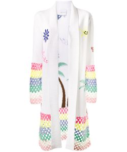 Mira Mikati | Crochet Trimmed Cardigan 34 Cotton/Wool/Acrylic