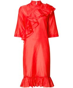 TOME | Mandarin Collar Ruffle Dress