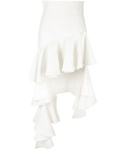 JACQUEMUS | Ruffled Asymmetric Skirt 38 Cotton/Polyamide