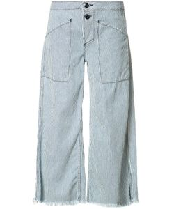Nsf | Striped Wide-Legged Jeans 27 Cotton