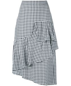 Tibi | Asymmetrical Gingham Skirt