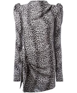 Saint Laurent | Puff Sleeve Printed Dress