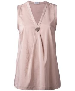 Brunello Cucinelli | Pinned V-Neck Top Medium
