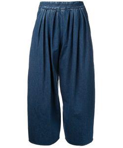 Maison Mihara Yasuhiro   Pleated Wide-Legged Cropped Jeans 38