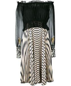 LOYD/FORD | Плиссированное Платье С Открытыми Плечами И Рисунком