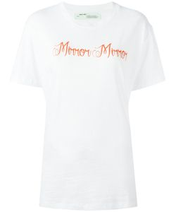 OFF-WHITE | Mirror Mirror Print T-Shirt Small Cotton