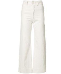 A PIECE APART   Apiece Apart Wide Leg Cropped Trousers 6 Cotton