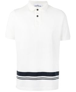 Stone Island | Printed Stripe Polo Shirt