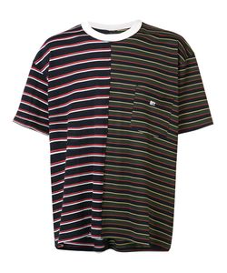 Mr. Completely | Chest Pocket Striped T-Shirt Small Cotton