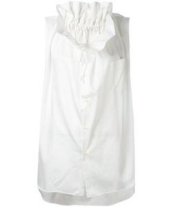 Comme Des Garcons   Comme Des Garçons Pleated Collar Sleeveless Shirt