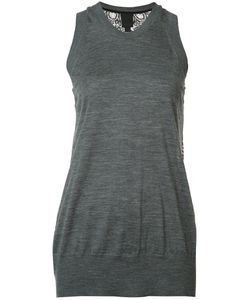 Vera Wang | Lace Back Tank Top Medium Silk/Nylon/Wool