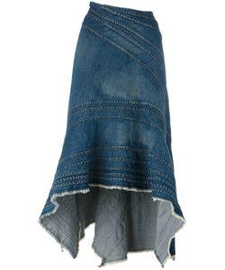 JUNYA WATANABE COMME DES GARCONS | Junya Watanabe Comme Des Garçons Ruffled Denim Skirt Small