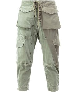 GREG LAUREN | Cargo Cropped Trousers 3 Cotton