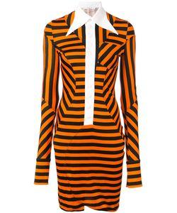 Givenchy | Полосатое Платье С Панельными Вставками