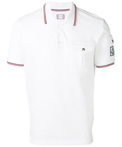 Moncler Gamme Bleu | Contrast Piping Polo Shirt Size Small