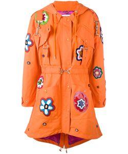 Moschino   Пальто С Цветочными Нашивками