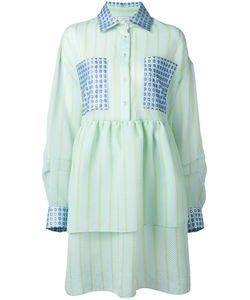 Natasha Zinko | Striped Fla Shirt Dress 34 Polyester/Polyamide