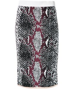 Theatre Products   Snakeskin Print Fitted Skirt