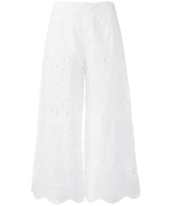 Red Valentino | Broderie Anglaise Cropped Trousers 44 Cotton/Polyester