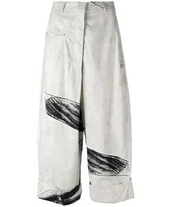 Rundholz | Sketch Print Cropped Trousers