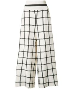 Victor Alfaro | High Wide-Legged Cropped Trousers 6 Rayon/Spandex/Elastane
