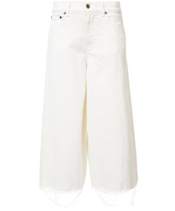 OFF-WHITE | Wide Leg Denim Culottes 25 Cotton/Spandex/Elastane