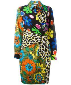 Moschino | Wrap Front Shirt Dress 44 Silk/Cotton/Other Fibers