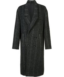 SECOND/LAYER | Double-Breasted Midi Coat Medium Cupro/Cotton/Wool