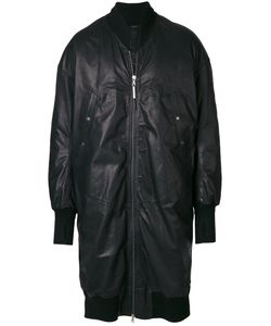 Isaac Sellam Experience | Bomber Coat Men Cotton/Calf Leather/Feather