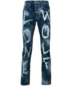 Maison Mihara Yasuhiro | Paint-Effect Printed Jeans Size