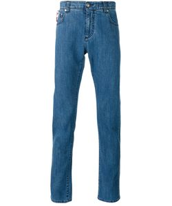 Isaia | Paisley Lined Skinny Jeans