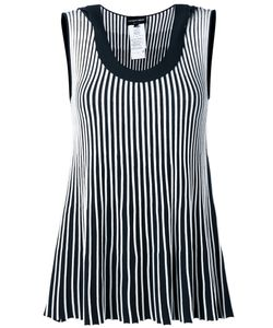 Emporio Armani | Striped Sleeveless Blouse Size 44