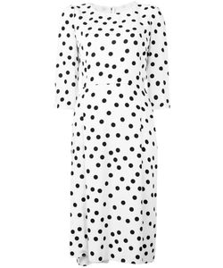 Dolce & Gabbana   Polka-Dot Shift Dress 48 Cotton/Viscose/Silk/Polyamide