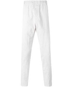 Ann Demeulemeester | Grise Elastic Waistband Trousers Medium Linen/Flax