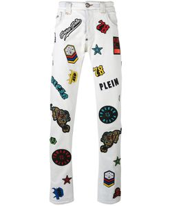Philipp Plein | Embroidered Patch Jeans Size 33