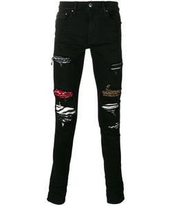AMIRI | Patched And Ripped Skinny Jeans