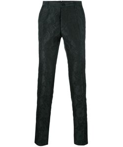 Christian Pellizzari | Jacquard Tailo Trousers 48 Polyester/Silk/Polyamide