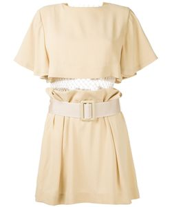 Toga | Pleated Trim Belted Dress 36