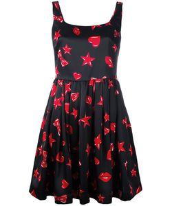 Moschino | Heart Print Skater Dress 44 Viscose
