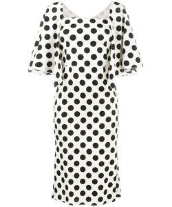 Dolce & Gabbana   Polka-Dot Midi Dress 48 Silk/Spandex/Elastane
