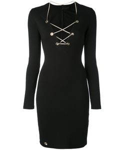 Philipp Plein | Chain Lace-Up Mini Dress