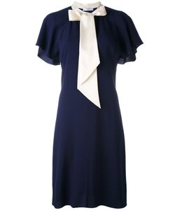 Lanvin | Contrast Neck Tie Dress