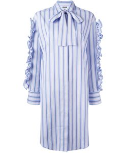 MSGM | Ruffle Shirt Dress 42 Cotton