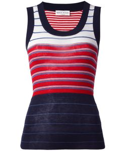 Sonia Rykiel | Rib Stripe Tank Top Small Silk/Cotton