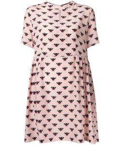 Markus Lupfer | Bee Print Fla Dress Medium Silk