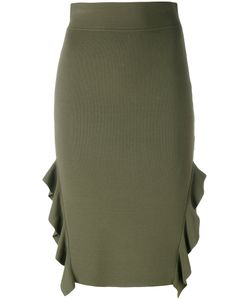 Opening Ceremony | Side Slit Ruffle Skirt