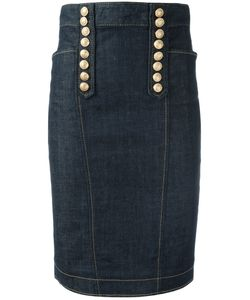Dsquared2 | Livery Denim Pencil Skirt 42 Cotton/Spandex/Elastane