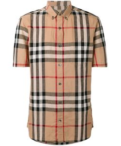 Burberry | House Check Short Sleeve Button Down Shirt