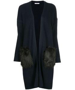 GUILD PRIME | Faux Fur Patch Long Cardigan Women