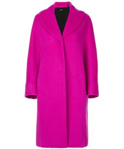 Jil Sander Navy | Single Breasted Coat Women Polyamide/Acetate/Cupro/Virgin